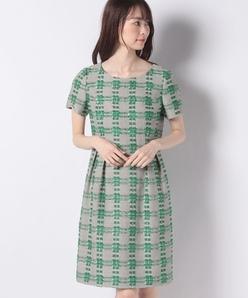 LINTON チェックツィードドレス