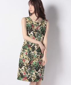 ボタニカルジャカードドレス