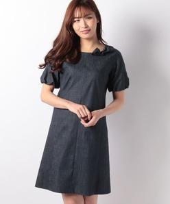 【洗える】ハイパーデニム ドレス