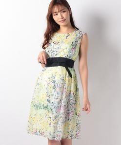 フラワーローンプリント ドレス