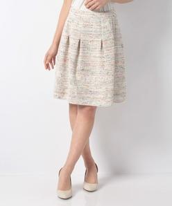 CLARENSON ミックスツィード スカート