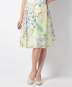 フラワーローンプリント スカート