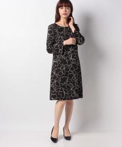 フラワープリント ドレス