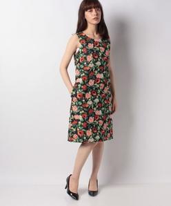 LIMONTA フラワージャカードドレス