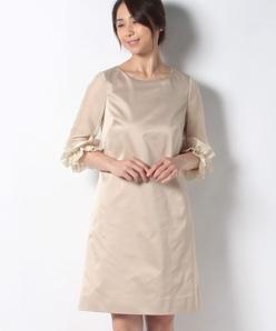 サテン×ジョーゼット ドレス