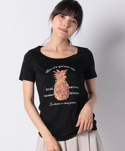 【洗える】パイナップル ロゴTシャツ