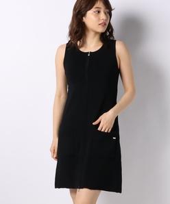 ハノン ジップアップニットドレス