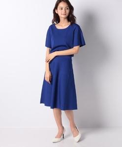 ハノン ウエストゴムニットドレス