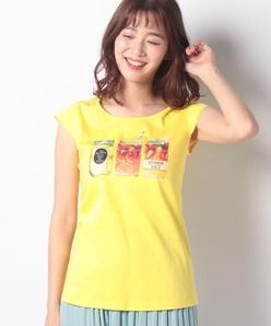 【洗える】ビタミンジュースプリント Tシャツ