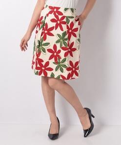 フラワープリント スカート