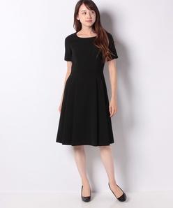 【洗える】シルキーストレッチ ドレス