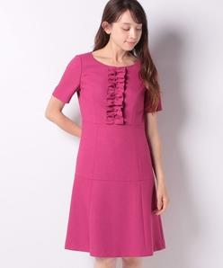 ダブルクロスジョーゼット ドレス