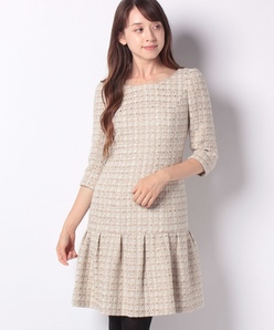 ラメツィード ドレス