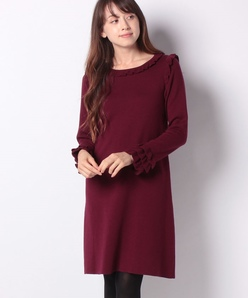 ウール ミラノリブ ニットドレス