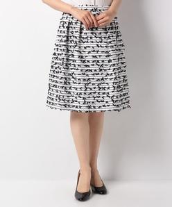 CLARENSON ファンシーツィード スカート