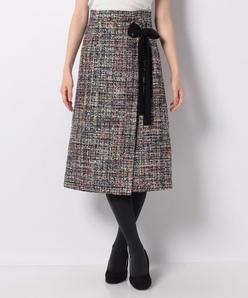 スパンコールツィード スカート