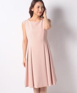 【洗える】【セットアップ対応】シルキーストレッチ ドレス