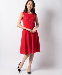 ハノン パールニットドレス