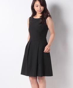 タフタジャージー タックドレス