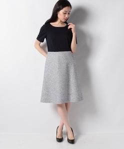 【セットアップ対応】ポンチ×サマーツィード ドッキングドレス