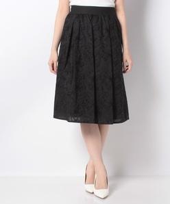 コットンフラワー刺繍スカート
