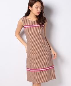 ストライプソフトブロードドレス