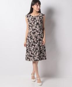 【洗える】フラワープリントドレス