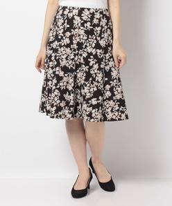 【洗える】フラワープリントスカート