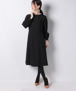 【洗える】ラフクレープツイルドレス