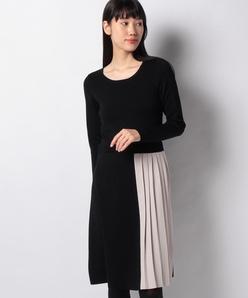 ハノン ニットプリーツドレス