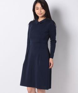 【アンサンブル対応】AMOSSA 襟付きニットドレス