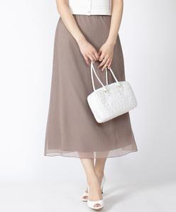 【洗える】【セットアップ対応】ドット楊柳 ロングスカート