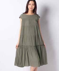 【洗える】MEORIAタンブラー ティアードロングドレス