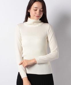 グラデーションリブ タートルネックセーター