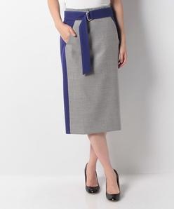 バイカラー セミロングタイトスカート