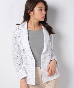 コットンボイルアイレット刺繍 テーラードジャケット