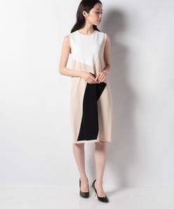 グラフィカルインターシャ ジャンパーニットドレス