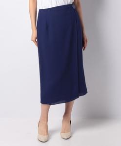【セットアップ対応】カラミ織り ラップスカート