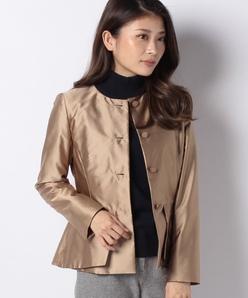 【セットアップ対応】ブライトタフタ ペプラムジャケット
