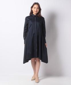【洗える】コンパクトストレッチ シャツドレス
