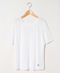 【大きいサイズ】【洗える】レーヨンポリスムース 半袖カットソー