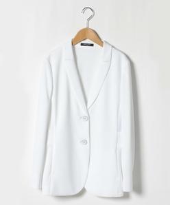 【大きいサイズ】【洗える】レーヨンポリポンチ テーラードジャケット
