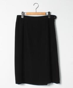 【大きいサイズ】【セットアップ対応】カラミ織り ミドル丈スカート