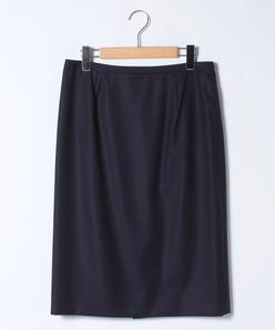 【大きいサイズ】【セットアップ対応】 シルクウールタイトスカート