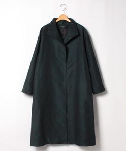 【大きいサイズ】マーブル柄ジャカード ライトコート