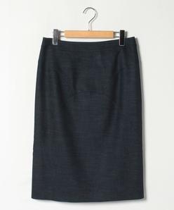 【大きいサイズ】シャンブレーツィル タイトスカート