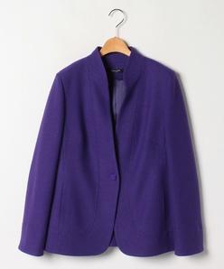 【大きいサイズ】ウールミルド スタンドカラージャケット