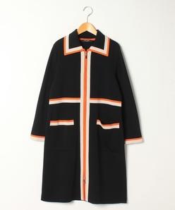 【大きいサイズ】ミラノリブ ニットジャケット