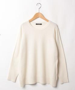【大きいサイズ】カシミヤ クルーネックセーター