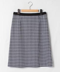 【セットアップ対応】【大きいサイズ】ギャラクティックチェックジャカードジャージー Aラインスカート